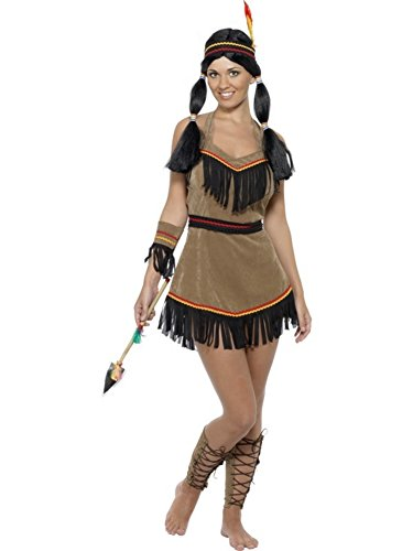 Smiffys Women's Brown Indian Woman Costume -US Dress 10-12