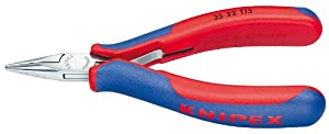 Knipex 3522115 Electronics Pliers with Half Round Tips , 4.5 Inch