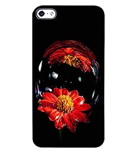 ColourCraft Amazing Flower Image Design Back Case Cover for APPLE IPHONE 4S