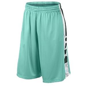 Nike Men's Elite Stripe Basketball Shorts Turquoise