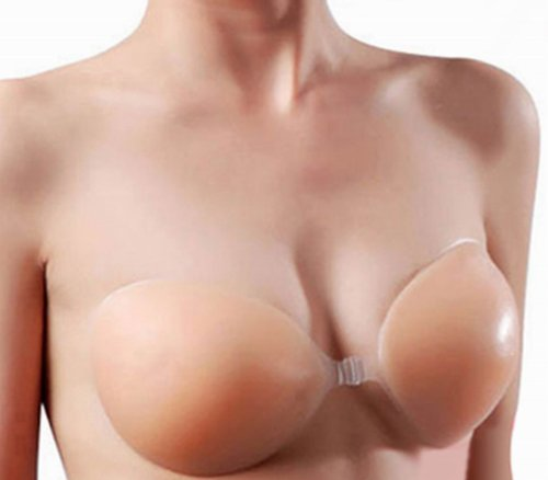 World Pride Self Adhesive Silicone Nude Color Backless Strapless Bra (A)