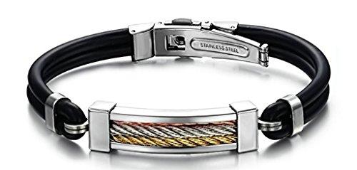 anazoz-stainless-steel-bracelets-three-color-silicone-screw-pattern-width-2208cm08g-black-womens-men