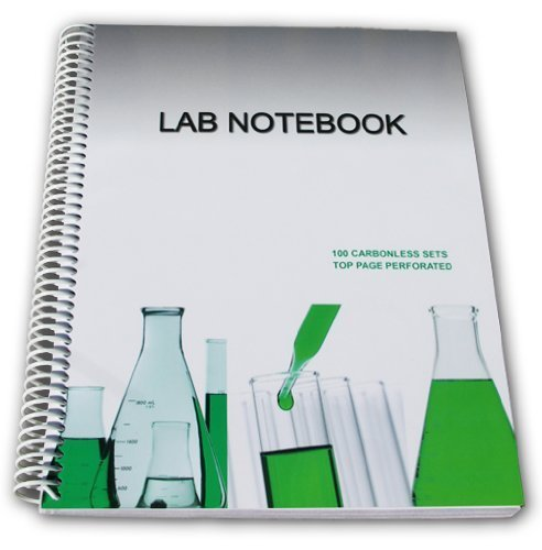 Lab Notebook 100 Carbonless Pages Spiral Bound (Top Page...