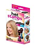 NEW Hot Stamps Hearts & Stars Hair Glitter Just Press & Dazzle 4 Stamps
