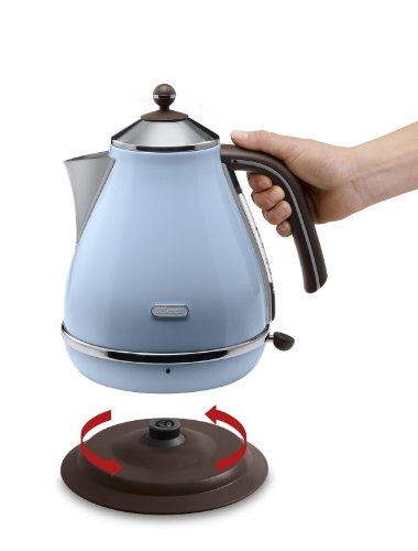 Electric Tea Kettles With Automatic Shut Off ~ Electric tea kettles azure blue auto shut off kitchen