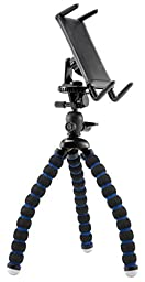 Premium Tripod Mount Universal Selfie Cradle for Samsung Galaxy S8 S7, S7 Edge, Galaxy Note 7 6, 5 Tab 2 3 4 S3 S2 TAB A E Tablet (5-8 inch only) w/ Flexy Leg Technology (use with or without case)