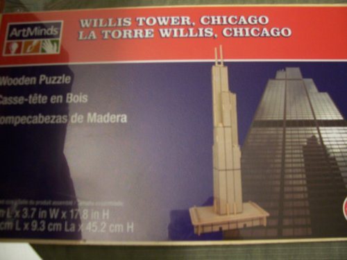 Cheap Michaels Art Mind Wooden Puzzle – Willis Tower, Chicago (B005GM9HQ0)