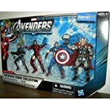 Marvel Avengers Comic Collection 4 Inch Action Figure 4Pack Captain America, Modern Iron Man, Thor Black Widow