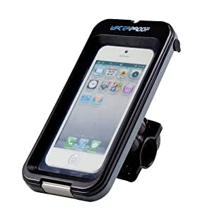 GMYLE(TM) Heavy Duty All Weather Waterproof Tough Case Adjustable Holder Bike Cycle Cycling Handlebar (16mm - 25mm) Mount for Smart Phone (iphone 4/4S/5/5C/5S , Samsung Galaxy S1/S2/S3/S4) [IPX8]