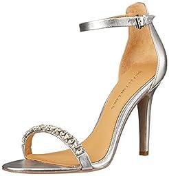 Badgley Mischka Women\'s Elope II Dress Sandal, Silver Leather, 9.5 M US