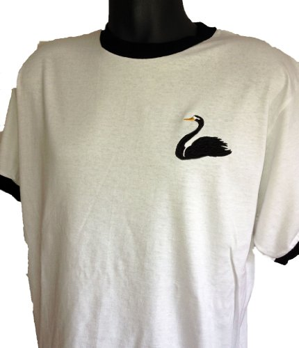 Retro Swansea City 1960s Football T Shirt New Sizes S-XXL Embroidered Logo