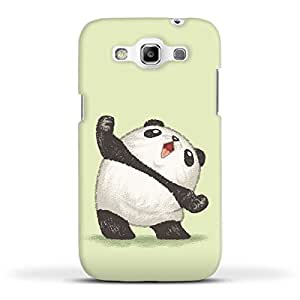 FUNKYLICIOUS Galaxy Quattro Back Cover Panda joy of the victory Design (Multicolour)