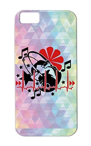 Music Ritmo Music Keys Latido Del Corazn Miscellaneous Stars Los Auriculares El Cardaco La Musica Las Llaves Cardiac Rhythm Headphones Estrellas Heartbeat Red Beat 2C For Iphone 5C Cover Case