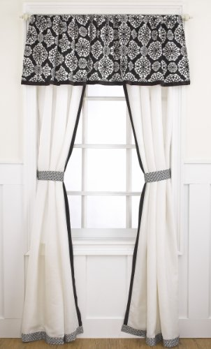 Cocalo Elsa Window Drapes, Black/White