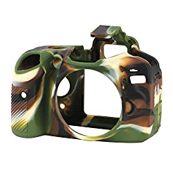 EasyCover Silicone Camera Case with Camoflage Pattern for Nikon D3200