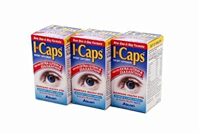 I-Caps With Lutein and Zeaxanthin Dietary Supplement for Healthy Eyes 90 Capsules (Factory Sealed Pack 3 x 30) New One-A-Day Formula
