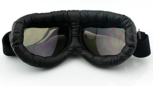 Oumers TMS WWII Raf Vintage Goggles, Aviator Pilot Style Motorcycle Cruiser Scooter Goggle, Bike Caf¨¦ Racer Cruiser Touring Half Helmet Goggles, Cool MTB Bicycle Summer Winter Snowboard Windproof glasses 3