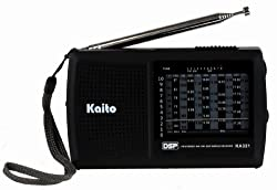 Kaito KA321 Pocket-size 10-Band AM/FM Shortwave Radio with DSP (Digital Signal Processing), Black - C2i_Inv_1370