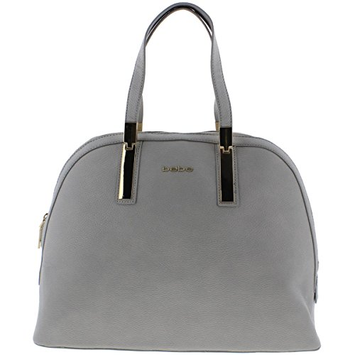 bebe-womens-ashley-faux-leather-lined-dome-handbag-gray-large