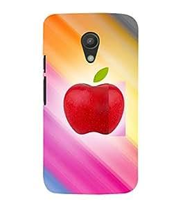 EPICCASE apple colorful Mobile Back Case Cover For Moto G 2nd Gen (Designer Case)