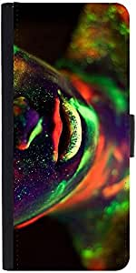 Snoogg Neon Lips 2492 Designer Protective Phone Flip Case Cover For One Plus X