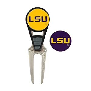 LSU Golf Ball Mark Repair Tool and Ball Markers