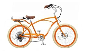 Pedego Orange Comfort Cruiser Classic Electric Bike with Orange Rims and Creme... by Pedego