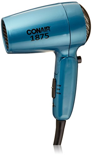 Conair 1875 Watt Folding Handle Compact Hair Dryer (Travel Hair Dryer Lightweight compare prices)