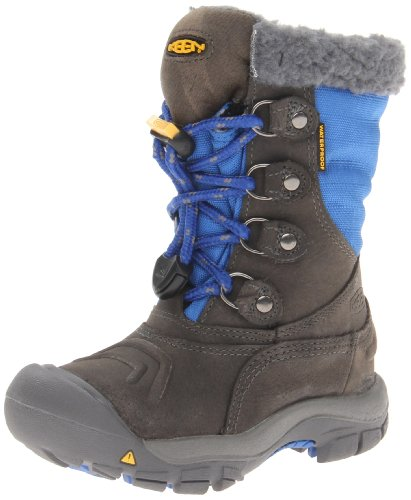 Keen Unisex - Child BASIN WP Y Snow Boots Blue Blau (GARGOYLE/STRONG BLUE) Size: 38
