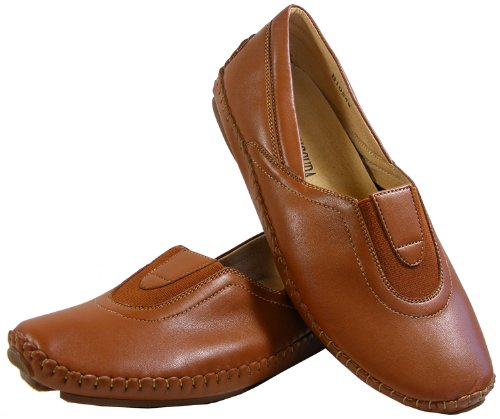 Womens Brown Slip On Gusset Flats Formal Ladies Work Casual Shoes Size 3 5 6 7 8