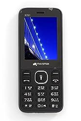 Micromax X701 Black Mobile 2.4 inch Display phone Dual SIM Cellphone Keypad Cell (Black)