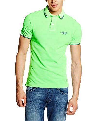 Superdry Poloshirt Vintage Destroyed apfelgrün