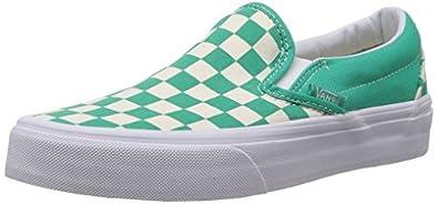 Vans Classic Slip On (Checkerboard) Aqua Green/White Shoe XG8DEU (UK4)