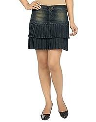 Ursense Women Skirts (ZIPL8002B_Light Tint_Yellow_28)