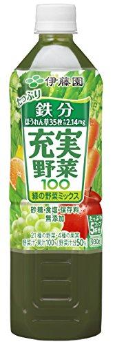 伊藤園 充実野菜 緑の野菜ミックス 930g×12本