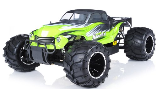 remote control radio control rc 1/5th Giant Scale Exceed RC Hannibal 30cc Gas-Engine Remote Controlled Off-Road RC Monster Truck w/ 2.4Ghz TX 100% RTR & Fail Safe (AA Green- or next available- color may vary sent at random)
