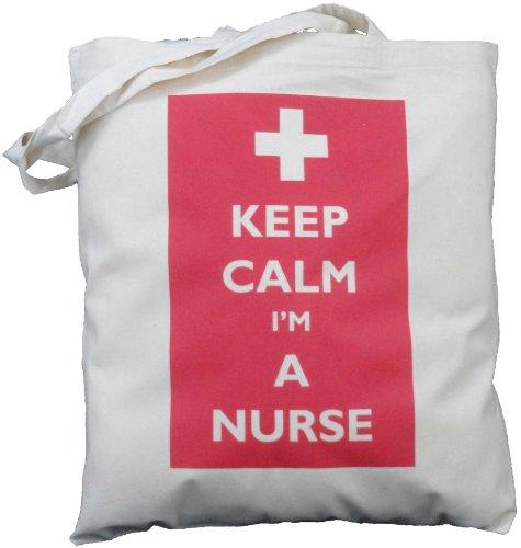 Keep Calm I'm a Nurse - Natural Cotton Shoulder Bag - Gift - luggage