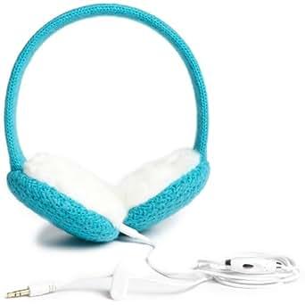 Lobers Women's Solid Headphone Earmuffs, Turquoise, One Size