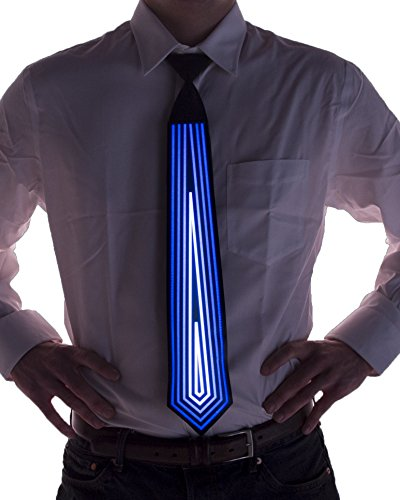 Blue Diamond Sound Activated Light Up Neck Tie