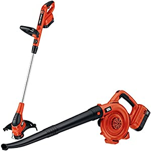 Black & Decker NCC218 18V Cordless Trimmer & Sweeper Outdoor Combo Kit