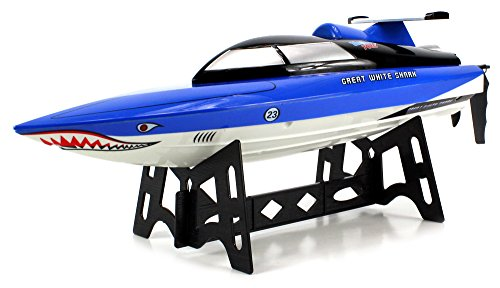 Velocity Toys Great White Shark Battery Operated Remote Control RC High Speed Boat 2.4GHz 15 MPH Ready To Run (Remote Control Car Shark compare prices)