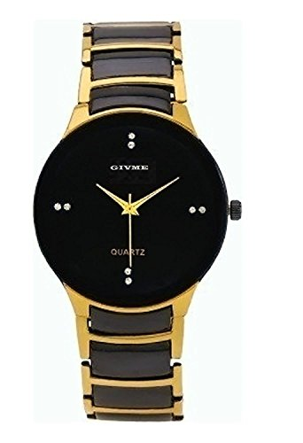 GIVME R- Shape Golden & Black dual Tone Men Watch