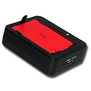 Amzer Spare Battery Charger with USB Output for HTC EVO 4G, HTC DROID Incredible BC-HLEG