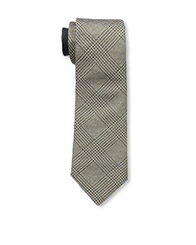 Valentino Men's Large Honeycomb Woven Tie, Beige/Black