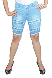 Nifty Women's Denim Shorts (1307, Sky Blue, 30)
