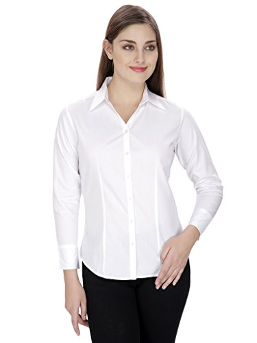 NGT-White-Color-Cotton-Blend-Shirts