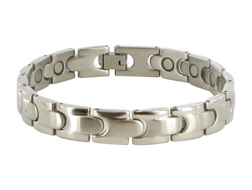 10 MM Stainless Steel Magnetic Therapy Bracelet 8.5″