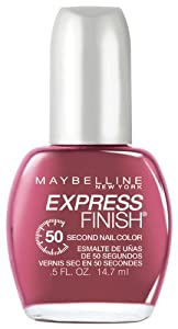 Maybelline New York Express Finish 50 Second Nail Color, Mod Mauve 70, 0.5 Fluid Ounce