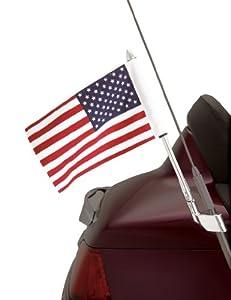 Show Chrome Accessories 52-713 Antenna Mount USA Flag Pole Kit by Show Chrome Accessories