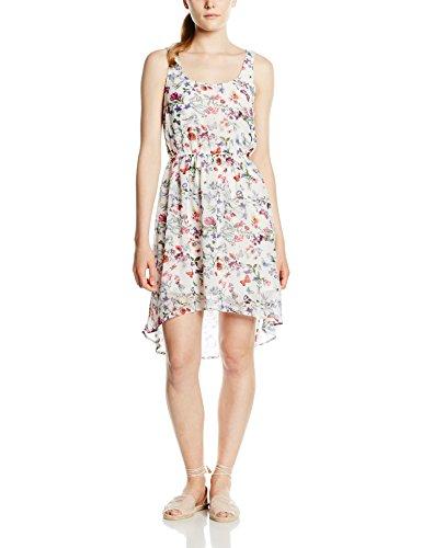 Only - onlBUTTERFLY S/L SHORT DRESS WVN, Vestito Donna, Mehrfarbig (Cloud Dancer AOP:BUTTERFLY PRINT), L (Tallia Produttore: 42)